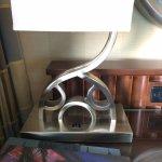 Hidden Mickey on the desk lamp