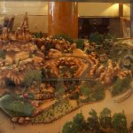 A diorama of Big Thunder Mountain Railroad in the lobby