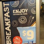 Notice regarding buffet breakfast