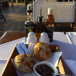 Warm bread rolls with Tapanade