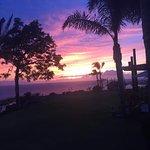 Sunset at the Mirador restaurant