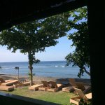 the view from dining room towards the beach