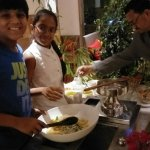 Mother's Day at Revival for full week where Children make Salads at the counter for their mother