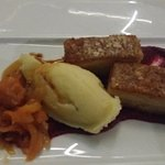 Pork belly - was a bit dry and the mashed potato had chunks of unmashed potato in it
