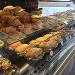 Fresh croissants and sandwiches!