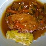 Lapereau braisée et polenta