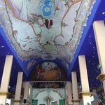 La Crucecita Church w/ the largest dome mural of Virgin of Guadalupe by J. de Signo.