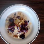 Breakfast muesli with added fruit and nuts