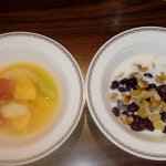 Fresh fruit followed by muesli