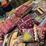 Having fun buying cushions!