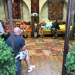 Family fun in the carpet shop