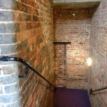 Exposed brick staircase