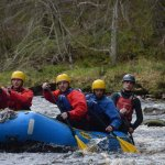 White water rafting in low water levels