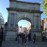 The arched entrance to St Stephens Green.