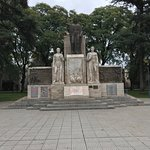 Very nice plaza and many of the other plazas are close. There is graffiti on some of the statues