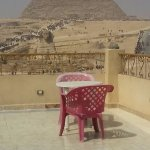 Nice spot at the Sphynx Guest House to have a tea