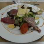 La salade gourmande, très gourmande ...
