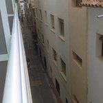 Balcony view of narrow Old Town street