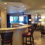 Kitchen, dining & living room areas of suite