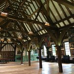 Double nave roof made from oak.