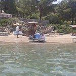 Privaet beach area