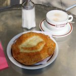 The famous 'Schmalznudel' and a good Coffee - Munich (19/May/17).