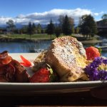 Delicious French Toast overlooking Sand Creek and Sandpoint Marina