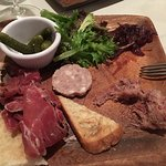 Charcuterie plate. Authentic French appetizer.