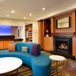 Lobby Fireplace at Fairfield Inn & Suites Mesquite