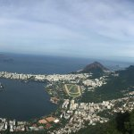 View overlooking Lagoa, Ipamena, and Leblon from the Christ the Redeemer