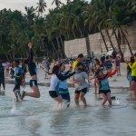 Kids enjoying the surf