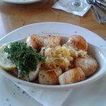 Crab stuffed scallops.