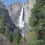Upper Yosemite Falls viewed from driveway