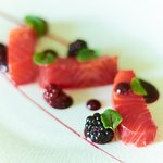 Home Smoked Trout, Summer Berries