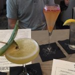 Peach Bellini and Hawaiian martini