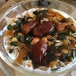 Yogurt with Nuts, Dates and Honey