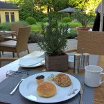 lovely breakfast in the quiet garden