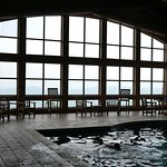 Indoor pool with a view