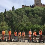 Our group on the Segways