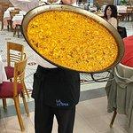 Peeled seafood Paella