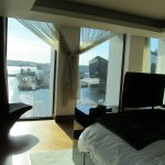 Presidential suite Liverpool dock view from bedroom