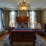 Regal Retreat room, Queen bed, private bath with antique claw foot tub & hand held shower