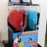 Soft ice and slush available for those with all inclusive at the snack restaurant.