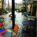 Museum Hundertwasser - courtyard café