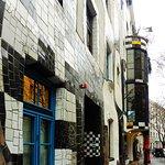 Museum Hundertwasser - front entrance oblique view
