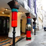 Museum Hundertwasser - front entrance pillars