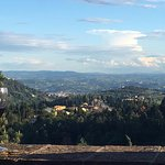 View of Florence from outdoor patio at La Paggeria