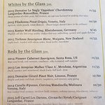 Most current wine list of glass pours :)