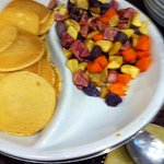 Pancakes & different types of potatoes