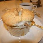 Bread pudding souflee
